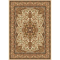 Contemporary Ivory Heat-Set Area Rug (7'8