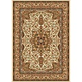 "Contemporary Ivory Heat-Set Polypropylene Rug (5'2"" x 7'2"")"