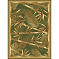 Contemporary Green Heat Set Rug (7'8 x 10'4)