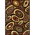 Contemporary Gold/ Multicolor Heat Set Rug (5'2 x 7'2)