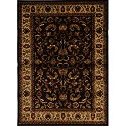 Contemporary Brown/Black Heat-Set Rug (7'8