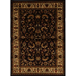Contemporary Brown/Black Heat-Set Rug (7'8