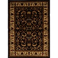 Contemporary Brown-Ivory Heat-Set Rug (5'2 x 7'2)
