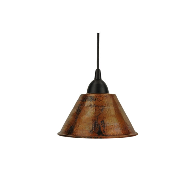 Premier Copper Products Copper 7-inch Hand-hammered Cone Pendant Light (Mexico)