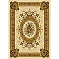 Ivory Contemporary Heat-Set Rug (5'2 x 7'2)