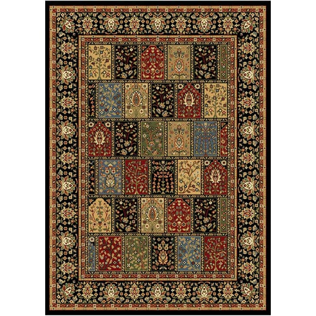 Home Dynamix Royalty Collection Black (7'8 X 10'4) Machine Made Polypropylene Area Rug