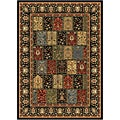 Contemporary Black Heat-Set Rug (5'2 x 7'2)