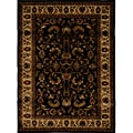 Contemporary Black Heat-Set Rug (7'8 x 10'4)