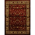 Contemporary Red-Ivory Heat-Set Rug (5'2 x 7'2)
