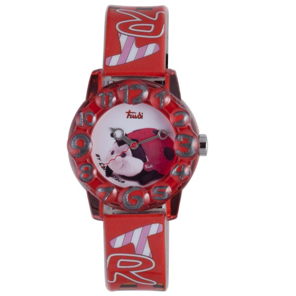 Trudi Kids' Red Plastic Lady Bug Watch