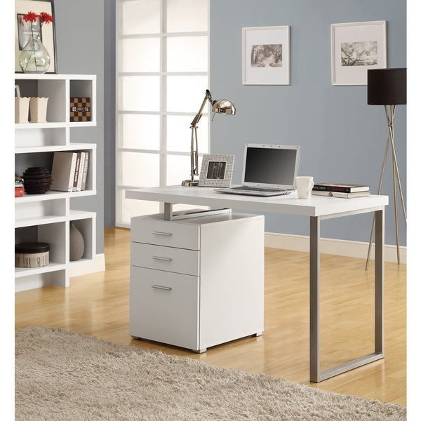 Hollow Core Right Left Facing White 48 Inch Desk