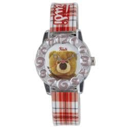 Trudi Kids' Checked Red Plastic Watch