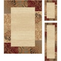 Elegance Collection Beige Area Rug (Set of 3)