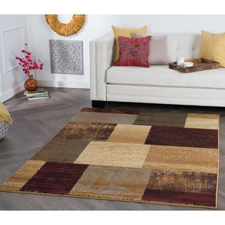 Alise Rhythm Red Area Rug (7'6 x 9'10)
