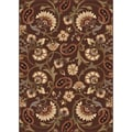 Elegance Collection Brown Area Rug (5' x 7')