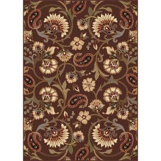 Rhythm Collection Brown Area Rug (7'6' x 9'10)