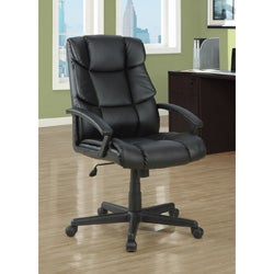Black Leather-Look 'Scale Back' Office Chair