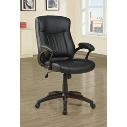 Black Leather-Look Executive Office Chair