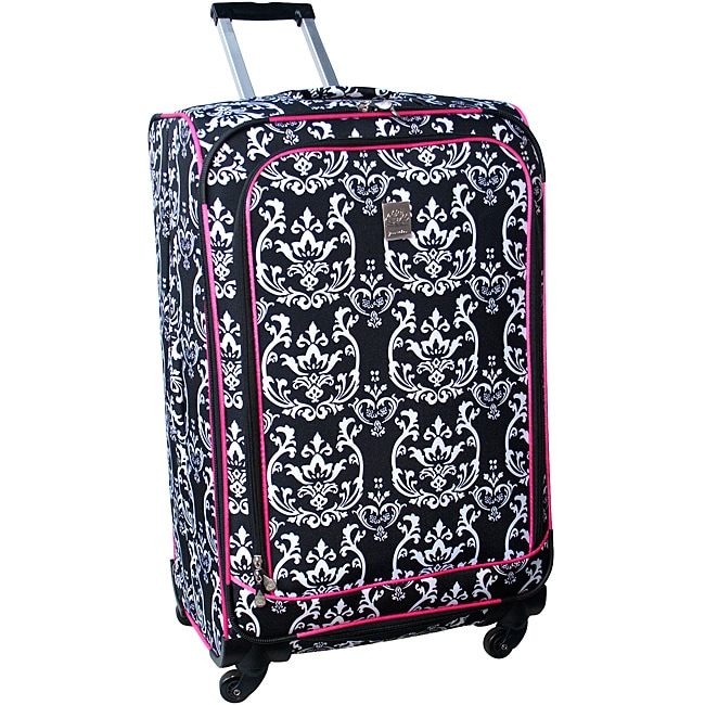 Jenni Chan Damask 360 Quattro 28-inch Hot Pink Upright Spinner