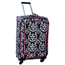 Jenni Chan Damask 360 Quattro 25-inch Hot Pink Spinner Upright