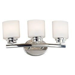Bow 9-inch High with Polished Nickel Finish 3-light Vanity
