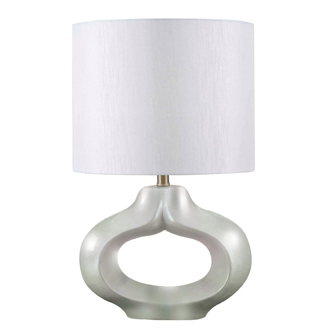 Fitzgerald 24-inch High With Pearlized White Finish Table Lamp