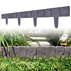 TerraTrade 10-Piece Cobblestone Flower Bed Border