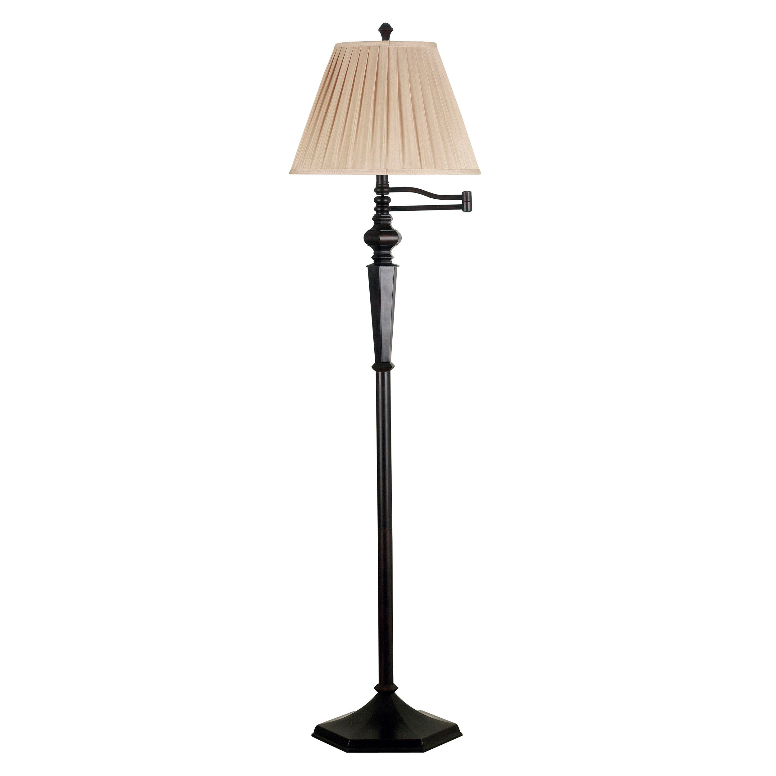 custer swing arm floor lamp 14353234 shopping. Black Bedroom Furniture Sets. Home Design Ideas