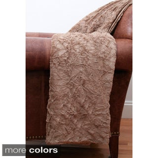 Crinkle Fur 50-inch x 60-inch Throw