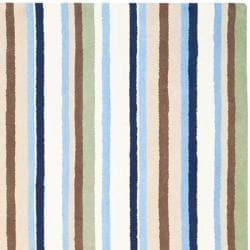 Safavieh Handmade Children's Stripes Cotton Rug (5' x 8')