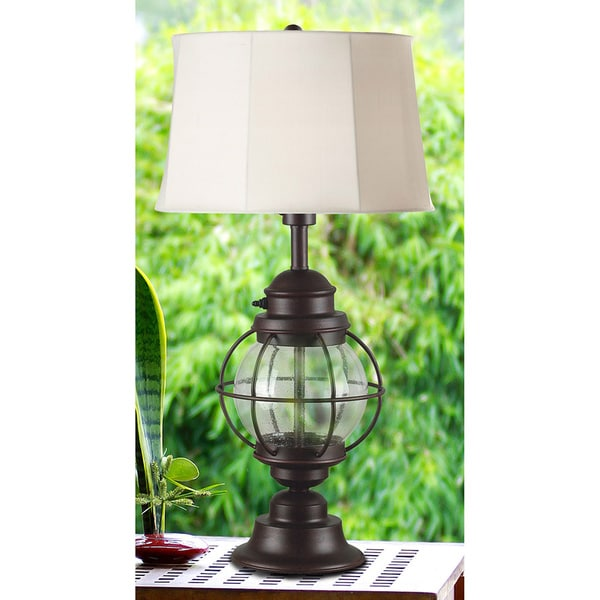 Elton 31-inch High with Gilded Copper Outdoor/ Indoor Table Lamp