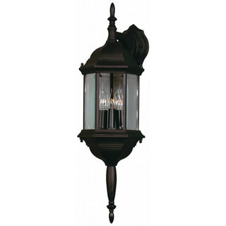 Brubeck Black 3-light Outdoor Lantern Wall Sconce