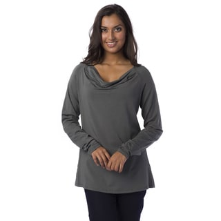 AtoZ Women's Raglan Cowl Neck Top