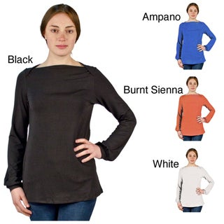 AtoZ Women's Tees Classic Boatneck Top