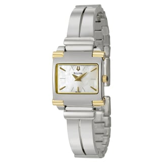 Bulova Women's 98L002 'Bangle' Two Tone Stainless Steel Quartz Watch