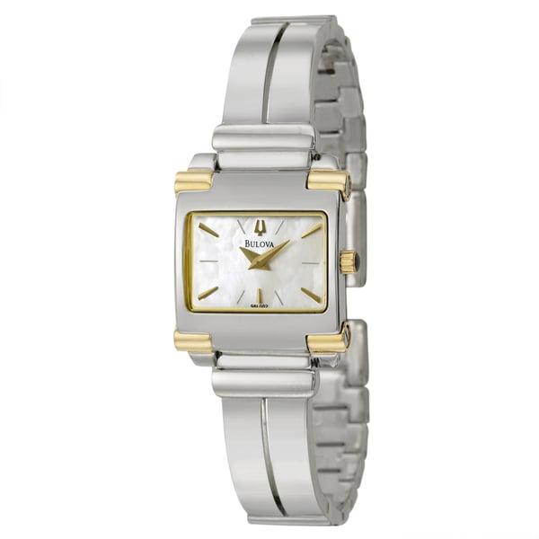 Bulova Women's 98L002 'Bangle' Two Tone Stainless Steel Quartz Watch