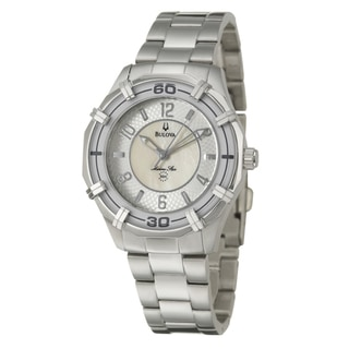 Bulova Women's 'Marine Star' Stainless Steel Quartz Watch