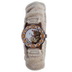 Trudi Kids' Beige Fur Teddy Bear Watch