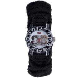 Trudi Kids' Black Fur Watch