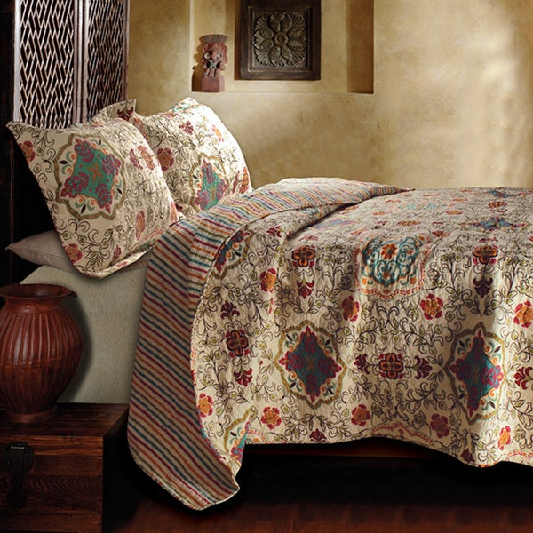 Greenland Home Fashions Esprit Spice 3-Piece Quilt Set