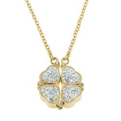 Eternally Haute Goldtone Steel Czech Crystal Heart To Heart Necklace
