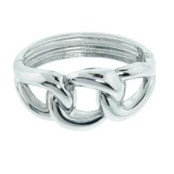 Eternally Haute Stainless Steel Twisted Bangle Bracelet