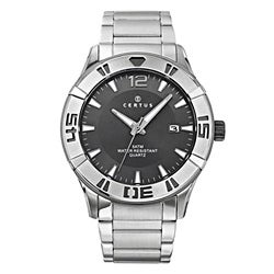 Certus Paris Men's Stainless Steel Grey Dial Date Quartz Watch