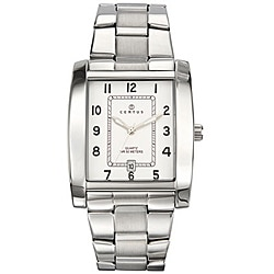 Certus Paris Men's Stainless Steel White Dial Date Quartz Watch