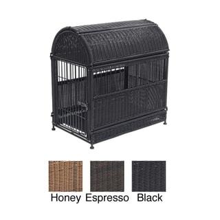 Medium Oval Wicker Dog House