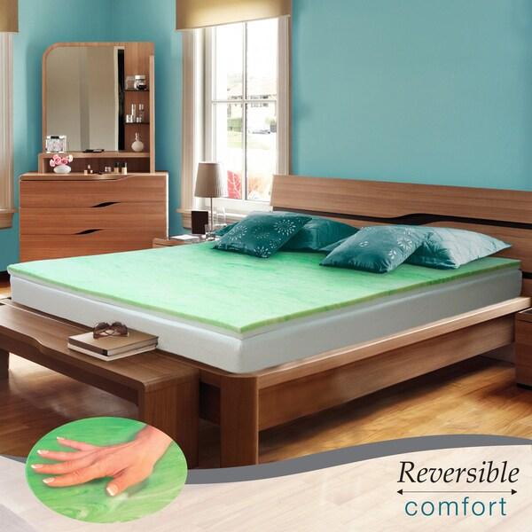 Reversible Comfort Swirl Gel Memory Foam 2-inch Full-size Mattress Topper