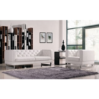 DG Casa White Allegro Sofa and Chair Set