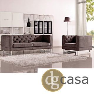 DG Casa Dark Raisin Grey Allegro Sofa and Chair Set