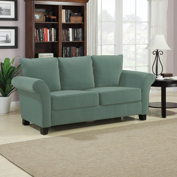 Portfolio Provant Turquoise Blue Velvet Sofa