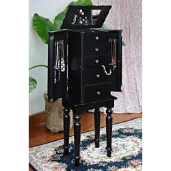 Classy Style Black Jewelry Armoire Chest